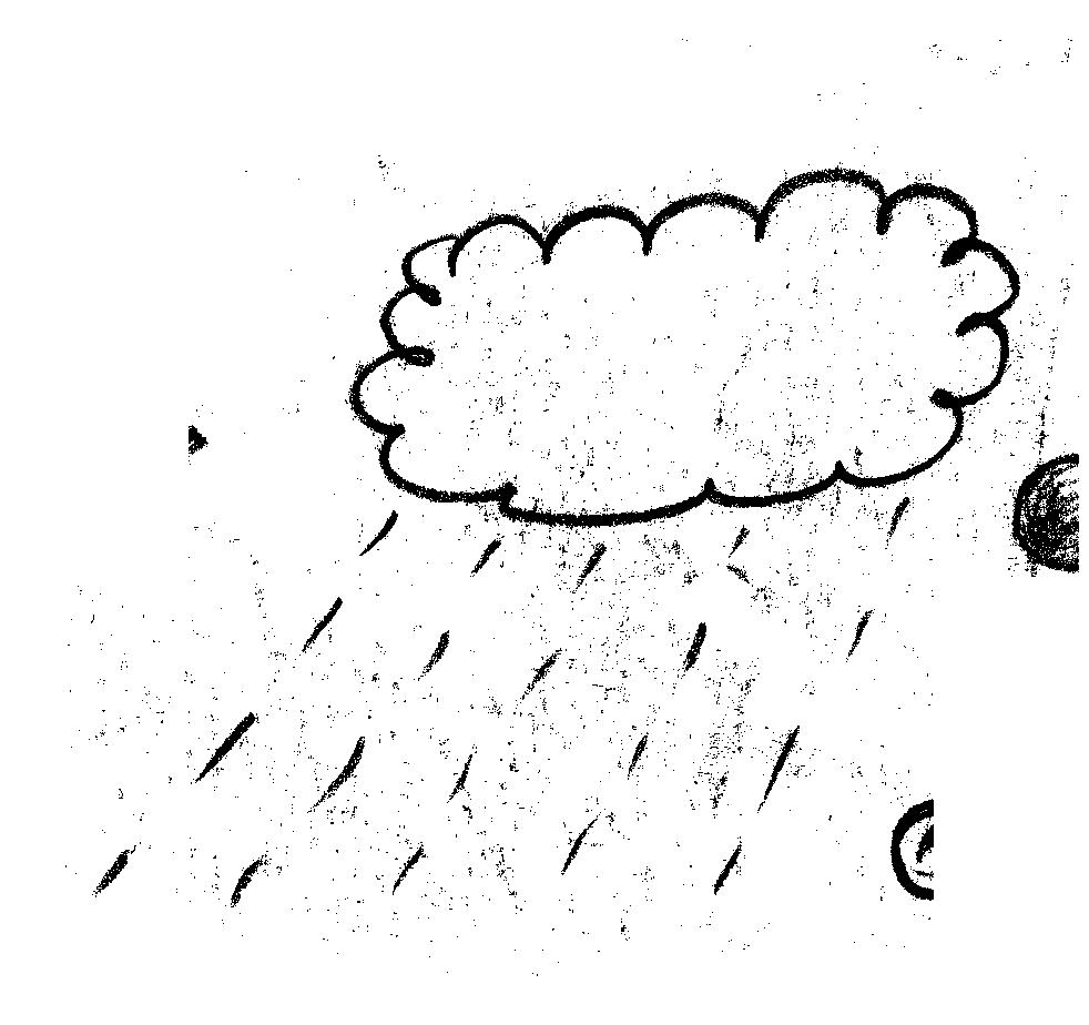 下雨的云 手绘  动图
