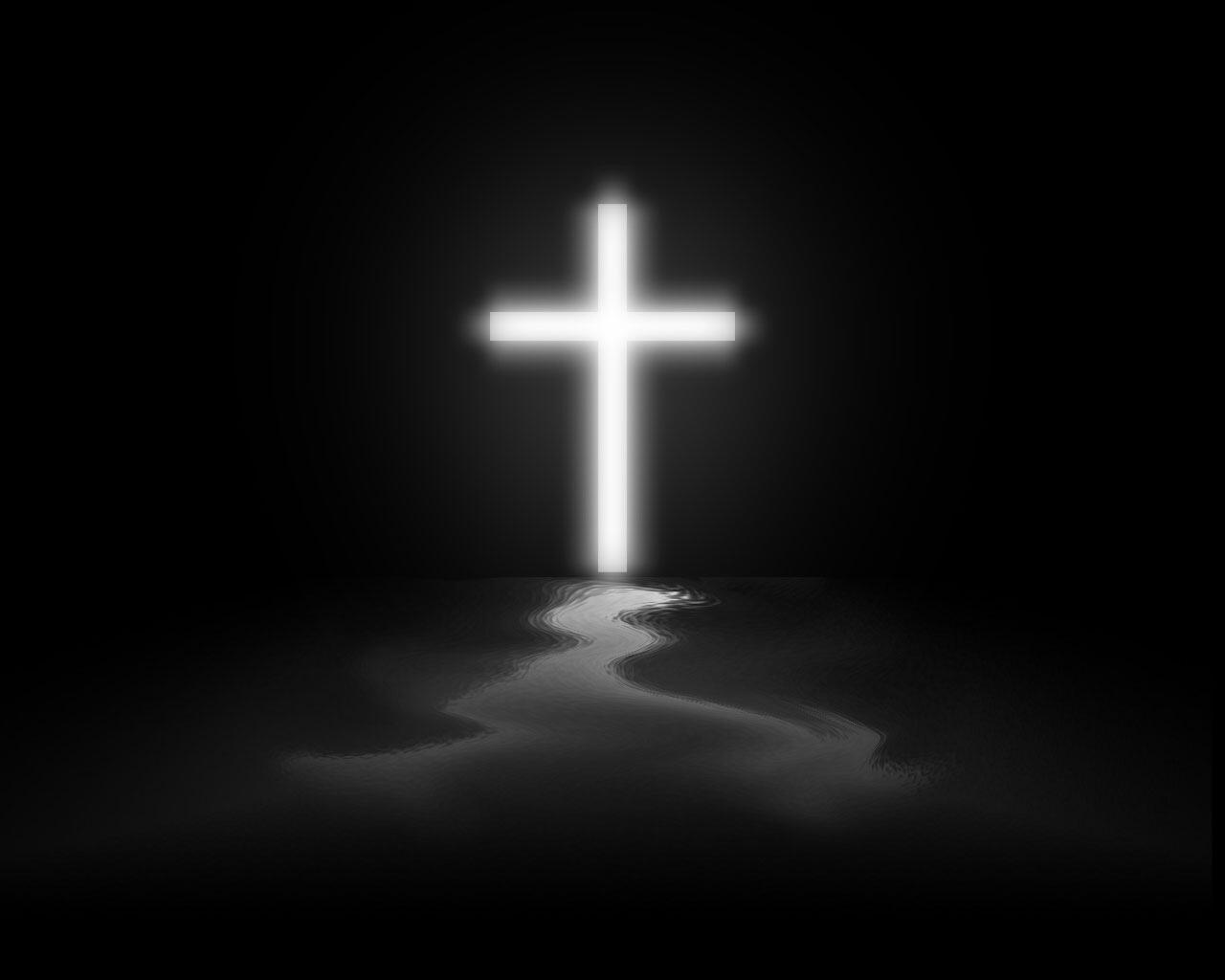 手绘十字架桌面壁纸