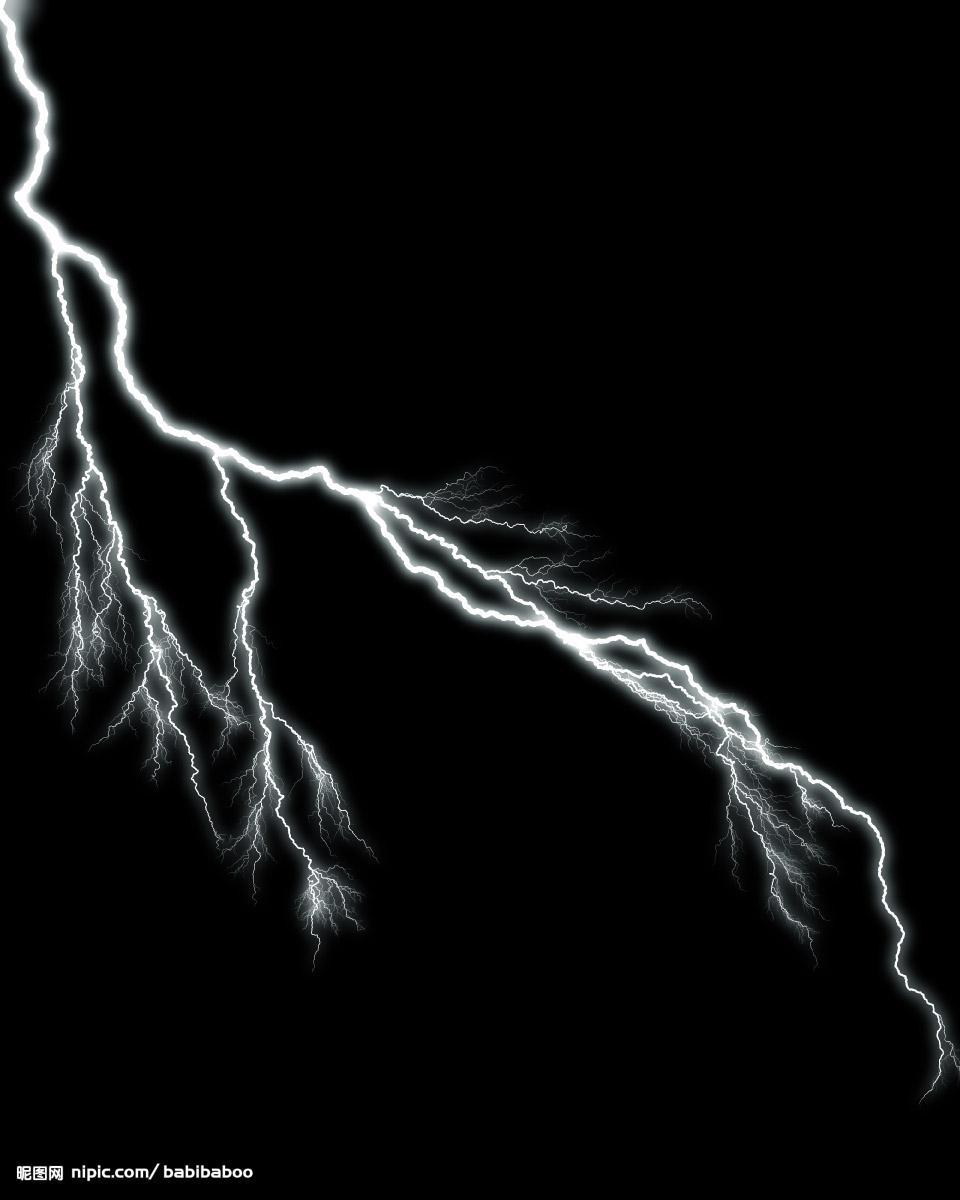 透明素材闪电