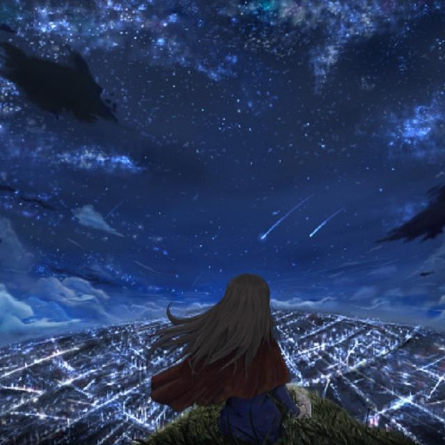 少女步入沙漠,遇见了星海。
