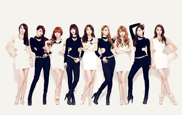 成员拥有172cm的模特标准平均身高——韩国女团nine muses!