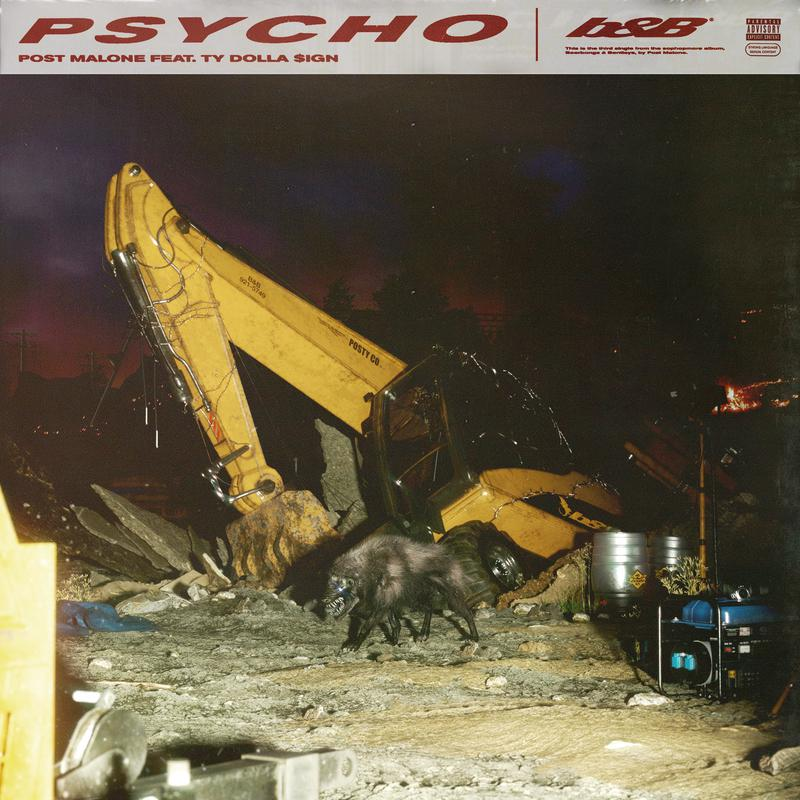 Post Malone - Psycho (Ft. Ty Dolla $ign)  Malone独有的Trap beat+随心所遇的唱腔
